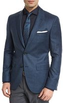 BOSS Jayson Houndstooth Two-Button Wool Sport Coat, Navy