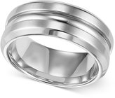 Triton Men's Stainless Steel Ring, 8mm Wedding Band