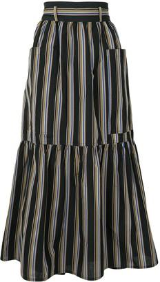 Sofie D'hoore Sanli striped maxi skirt