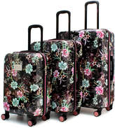 Badgley Mischka Essence 3-Piece Expandable Spinner Luggage Set