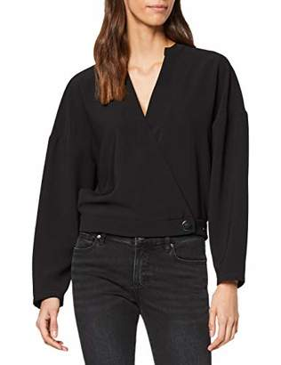 Armani Exchange Women's 1 Button and A Half Blouse,X-Large