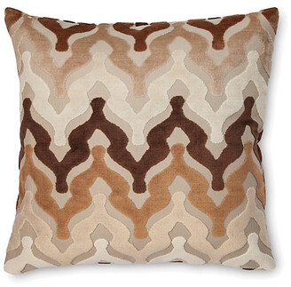 The Piper Collection Bella 22x22 Pillow - Chocolate Velvet neutral