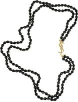 Yves Saint Laurent Glass bead necklace