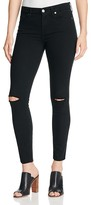 7 For All Mankind b(air) Distressed Skinny Ankle Jeans in Black