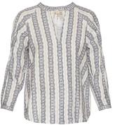 Sea Striped linen long-sleeved top