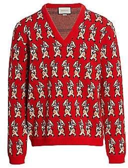 Gucci Men's Piglet Wool Jacquard Sweater