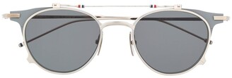 Thom Browne Eyewear Round-Frame Flip-Up Sunglasses