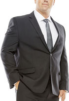 COLLECTION Collection by Michael Strahan Striped Black Suit Jacket - Big & Tall