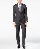 HUGO BOSS HUGO Men's Slim-Fit Charcoal Donegal Suit