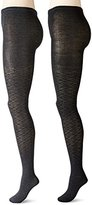 Anne Klein Women's Pointelle Argyle Patterned Knit Tights (Pack of 2)