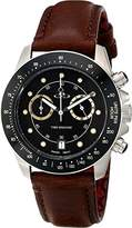Vivienne Westwood Barbican Men's Quartz Watch with Black Dial Digital Display and Brown Leather Strap VV118BKBR