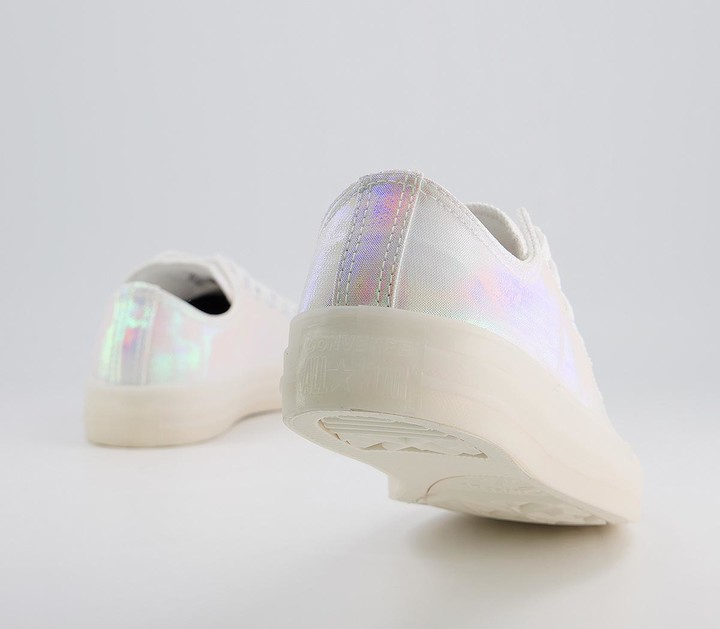 Thumbnail for your product : Converse All Star Low Trainers White Iridescent Exclusive