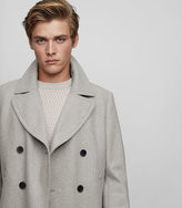 REISS Ellis - Wool Blend Peacoat in Grey, Mens