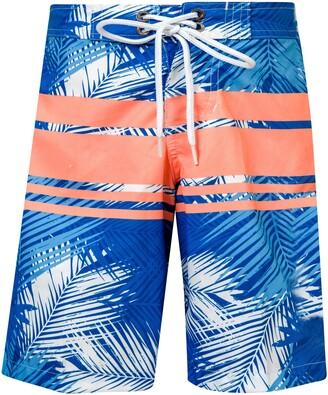 Snapper Rock Tropical Neon Stripe Board Shorts