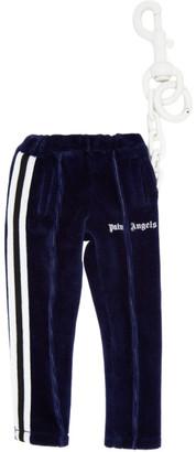 Palm Angels Navy Mini Track Pants Keychain