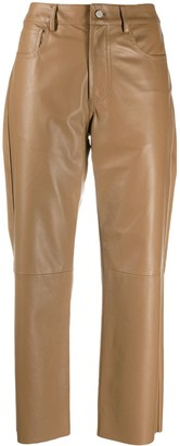 Drome Cropped Leather Trousers