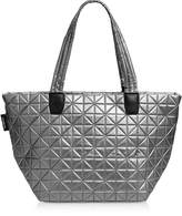 Vee Collective Vee Medium Platinium Metallic Nylon Tote Bag