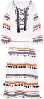 dodo bar or embellished embroidered cottongauze midi dress white