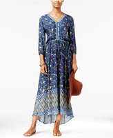 American Rag Printed High-Low Maxi Dress, Only at Macy's