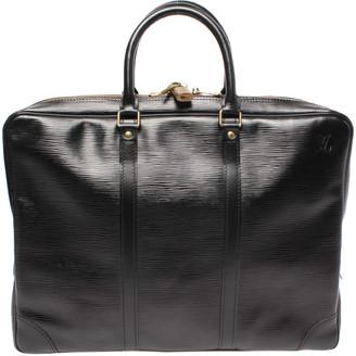 Louis Vuitton Noir Epi Leather Porte Documents Voyage Bag
