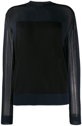 Nina Ricci Sheer Long Sleeve Top