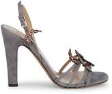 Valentino Garavani Bird Applique Suede Sandals