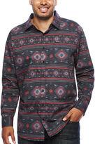 Zoo York Long-Sleeve Aztec Print Woven Shirt - Big & Tall