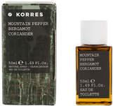 Korres Mountain Pepper Bergamot Coriander Eau De Toilette 50ml