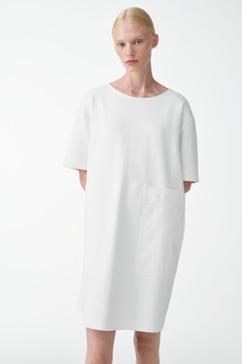 Cos Cotton Dress With Pocket Detail