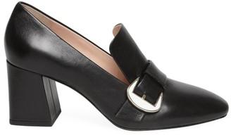 Kate Spade Alia Buckle Leather Mule Loafers