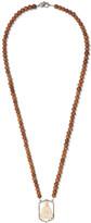 Loree Rodkin Wood, Bone, 18-karat White Gold And Diamond Necklace - Brown
