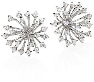 Hueb Luminus Diamond & 18K White Gold Stud Earrings