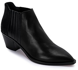 Dolce Vita Women's Shana Pointed Toe Leather Booties