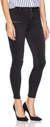 James Jeans Women's Twiggy Skinny Ankle Jean with Zipper in Blacked Grey 30