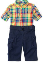 Ralph Lauren Cotton Shirt & Cargo Pant Set