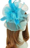 QUEEN STYLE Woman's Performance Hair accessories Net yarn Flower Feather Headwear