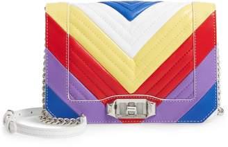 Rebecca Minkoff Leather Chevron Quilted Rainbow Love Crossbody Bag