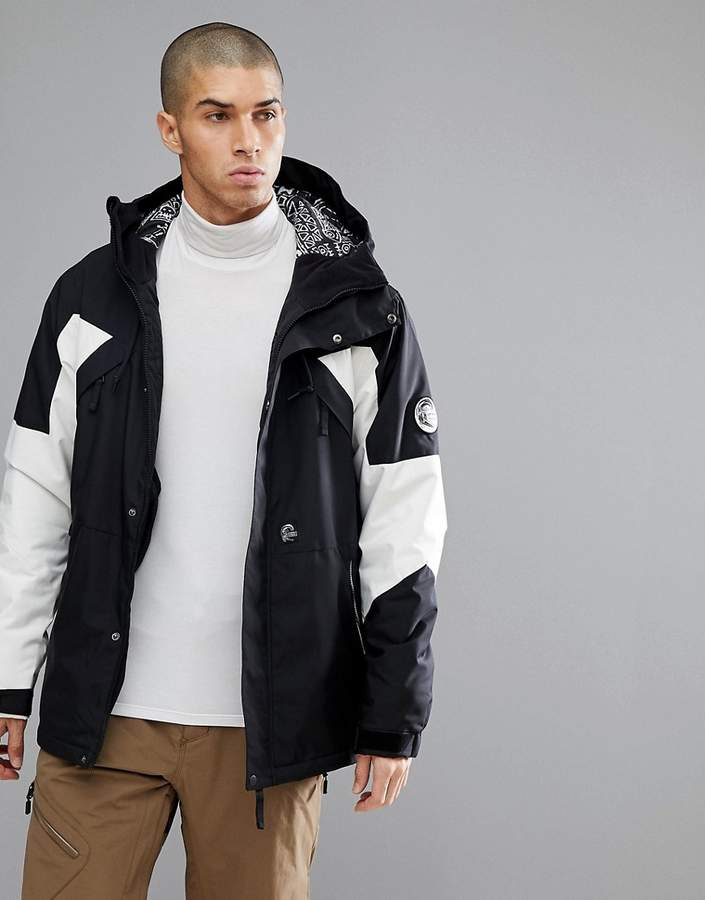 O'Neill Reissue 91 Extreme Ski Jacket in Black/White