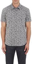 John Varvatos Men's Camouflage Cotton-Blend Shirt-GREY