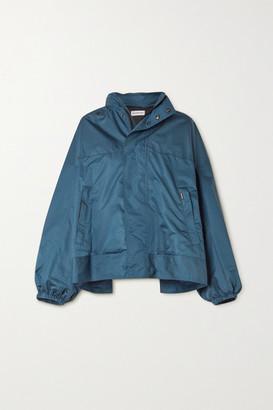Balenciaga Oversized Hooded Shell Jacket - Blue