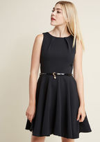 ModCloth Closet London Luck Be a Lady A-Line Dress in Black in 22 (UK) - Sleeveless Fit & Flare Knee Length