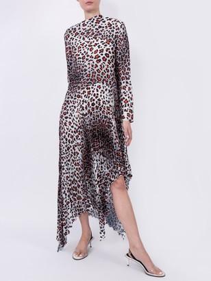 Marques Almeida Multicolored Leopard Print Maxi Dress