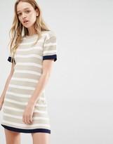 Daisy Street Knitted T-Shirt Dress In Stripe