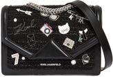 Karl Lagerfeld K/Klassik Pins Leather & Tweed Bag