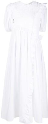 Cecilie Bahnsen Ruffled-Edge Cotton Dress