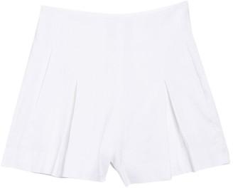 Vince Pleat Front Linen Blend Shorts