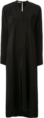 LA COLLECTION Benedicte fluted-sleeve silk dress