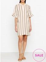 Whistles Margarita Linen Stripe Dress