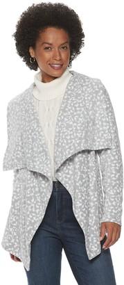 Croft & Barrow Women's Draped Open-Front Fleece Cardigan