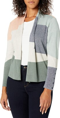 Nic+Zoe Women's Camo Waves Cardigan